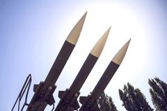 Sistema missilistico della difesa aerea fotografie stock