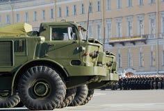 Sistema missilistico mobile Immagini Stock
