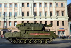 Sistema missilistico tattico Tor-M2U della difesa aerea Fotografie Stock Libere da Diritti