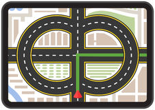 Sistema mobile di GPS di navigazione Immagine Stock Libera da Diritti