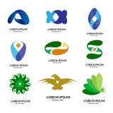 Sistema moderno abstracto del diseño del logotipo stock de ilustración
