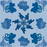 Sistema moderno azul claro del símbolo abstracto del modelo libre illustration