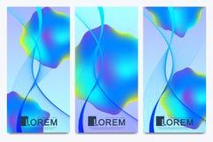 Sistema moderno de aviadores del vector Fondos de moda de los colores del líquido del líquido 3d del vector abstracto de las form Fotos de archivo libres de regalías