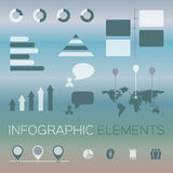 sistema moderno de elementos infographic Imagen de archivo libre de regalías