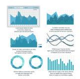 Sistema moderno de Infographic, plantillas del vector Imagen de archivo libre de regalías