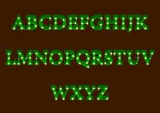 Sistema moderno del alfabeto de la iluminación Foto de archivo libre de regalías