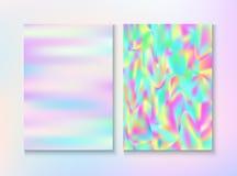 Sistema moderno del cartel del vector del partido de la m?sica del arco iris de la interferencia libre illustration
