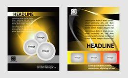 Sistema moderno del diseño del folleto Foto de archivo