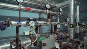 Sistema moderno del radiatore stock footage