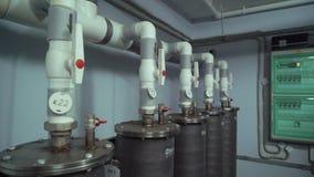 Sistema moderno do calefator video estoque