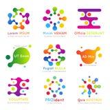 Sistema molecular del logotipo del negocio del vector Foto de archivo