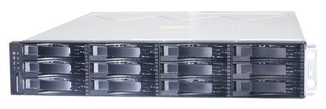 Sistema montado en rack del almacenamiento foto de archivo