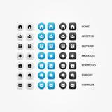Sistema multiusos de los iconos del web para el negocio, las finanzas y la comunicación Fotografía de archivo