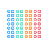 Sistema multiusos de los iconos del web para el negocio, las finanzas y la comunicación Fotos de archivo libres de regalías