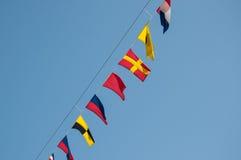 Sistema náutico de la bandera Fotografía de archivo