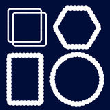 Sistema náutico del vector del marco de la cuerda Imagen de archivo