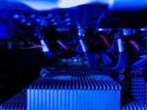 Sistema na sala dos servidores e dos dados dos servidores Fotos de Stock Royalty Free