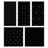 Sistema negro del blanco del cand de modelos inconsútiles del abstrct libre illustration