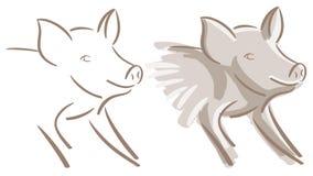 Sistema Niza del cerdo aislado ilustración del vector
