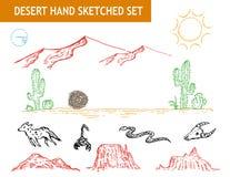 Sistema occidental del garabato del desierto Clip art Editable libre illustration
