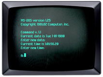 Sistema operativo de la PC de la IBM imagen de archivo libre de regalías