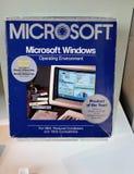 Sistema operativo de Microsoft Windows, version1, c 1985 imagen de archivo libre de regalías