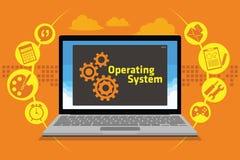 Sistema operativo del OS en el ordenador portátil Imágenes de archivo libres de regalías