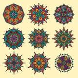 Sistema oriental del vector de la mandala Fotografía de archivo