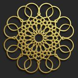 Sistema oriental islámico del modelo, colección abstracta del ornamento del círculo del vector Fondo de los musulmanes del vector Imagenes de archivo