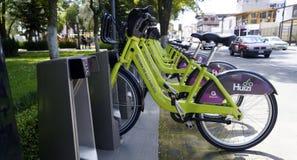Sistema público Huizi da bicicleta em Toluca México imagem de stock