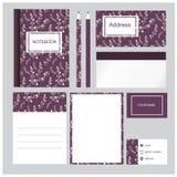 Sistema púrpura fresco de los efectos de escritorio Foto de archivo libre de regalías