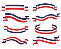 Sistema patriótico de la cinta Imagenes de archivo