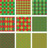 Sistema patte inconsútil de la tela escocesa de la Navidad y del Año Nuevo Fotos de archivo