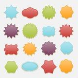 Sistema pegajoso del vector de las etiquetas de las estrellas y de las nubes de las insignias libre illustration