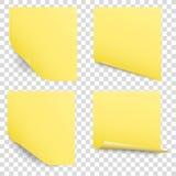 sistema pegajoso del vector de las notas del recordatorio stock de ilustración