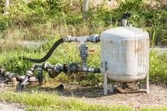 Sistema per l'acqua di irrigazione di pompaggio per agricoltura Immagine Stock