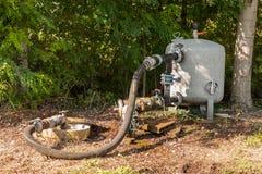 Sistema per l'acqua di irrigazione di pompaggio per agricoltura Fotografia Stock Libera da Diritti