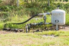 Sistema per l'acqua di irrigazione di pompaggio per agricoltura Immagine Stock Libera da Diritti