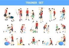 Sistema personal del instructor ilustración del vector