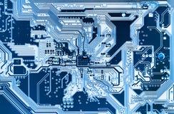 Sistema, placa madre, ordenador y fondo de la electrónica Imagen de archivo