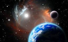 Sistema planetario alternativo ilustración del vector