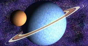 Sistema planetario anillado foto de archivo