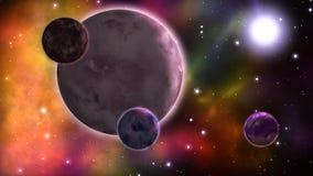 Sistema planetario bucle stock de ilustración