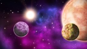 Sistema planetario bucle ilustración del vector