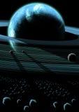 Sistema planetario del anillo ilustración del vector