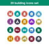 Sistema plano constructivo del icono Fotos de archivo