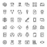 Sistema plano del icono Imagenes de archivo