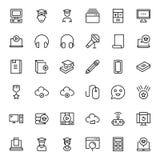 Sistema plano del icono Imagen de archivo