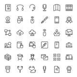 Sistema plano del icono Foto de archivo libre de regalías