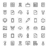 Sistema plano del icono Foto de archivo